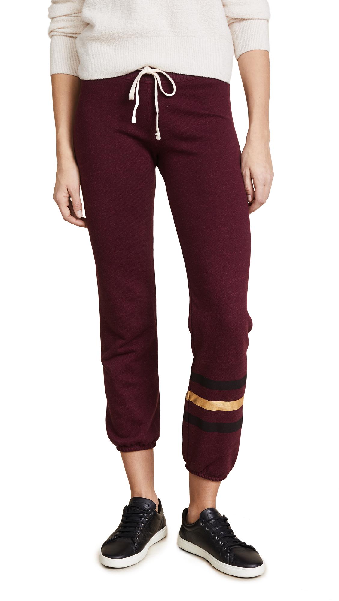 Sweatpants with Foil Stripes