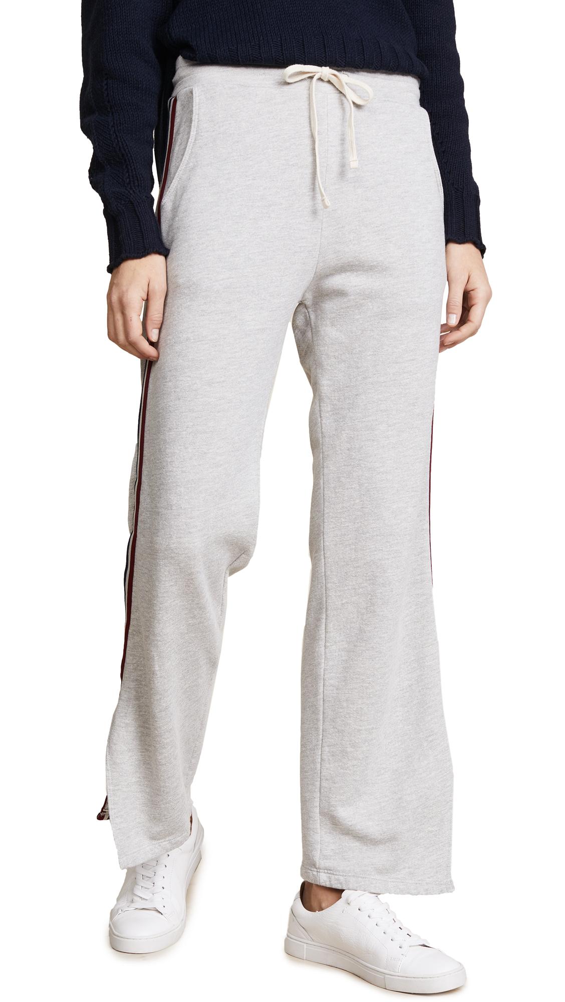 SUNDRY Track Pants with Stripe Trim