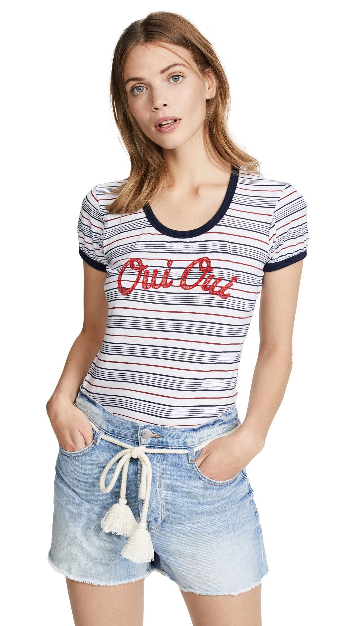 SUNDRY Oui Oui Girl Tee