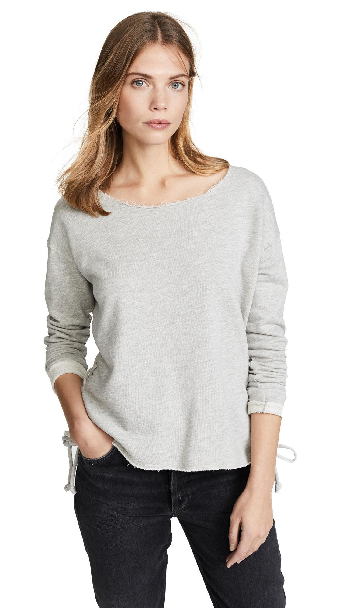 SUNDRY Lace Up Sweatshirt