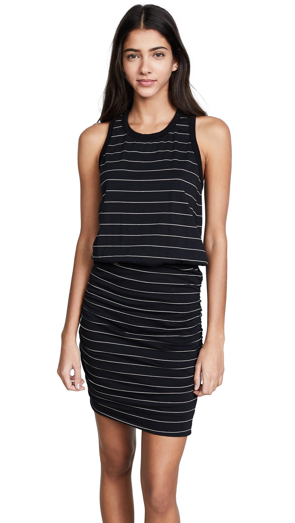 7a8566d4deef8 Sundry Sleeveless Dress In Black Cream