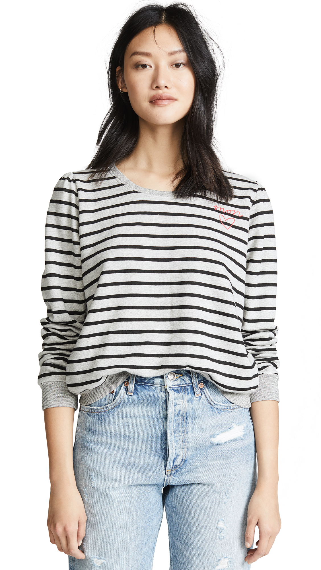 SUNDRY Princess Sleeve Sweatshirt