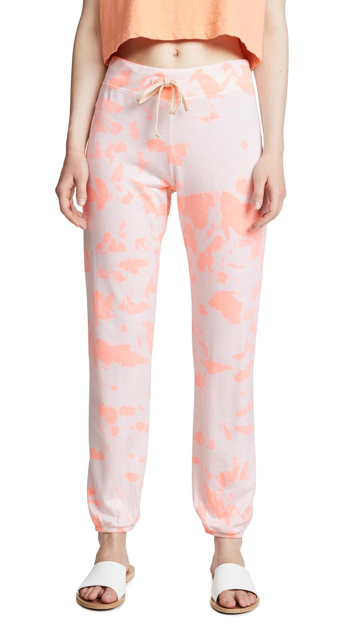 SUNDRY Neon Heat Tie Dye Classic Sweatpants