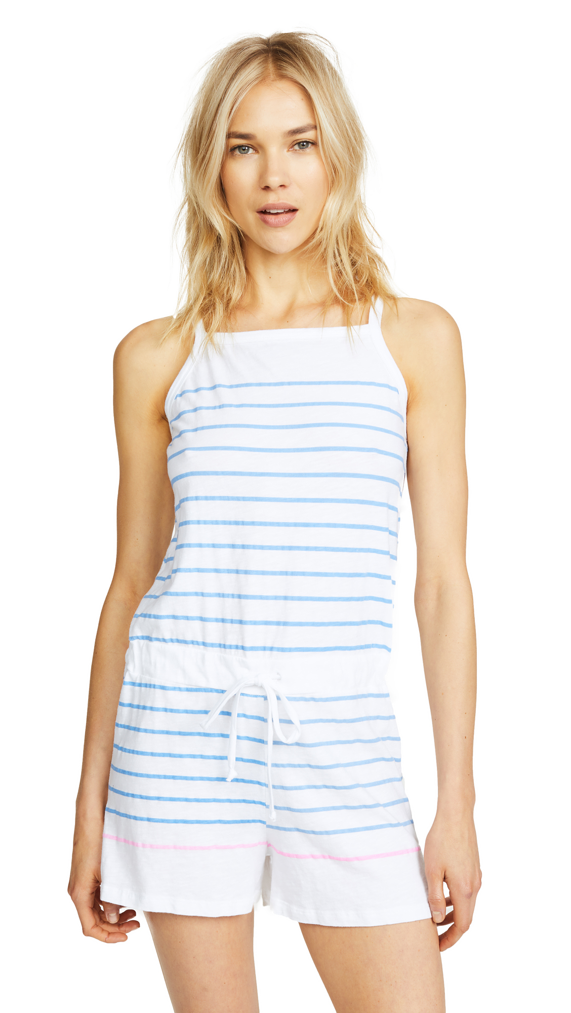 Photo of SUNDRY Stripes Racerback Romper online jumpsuits sales
