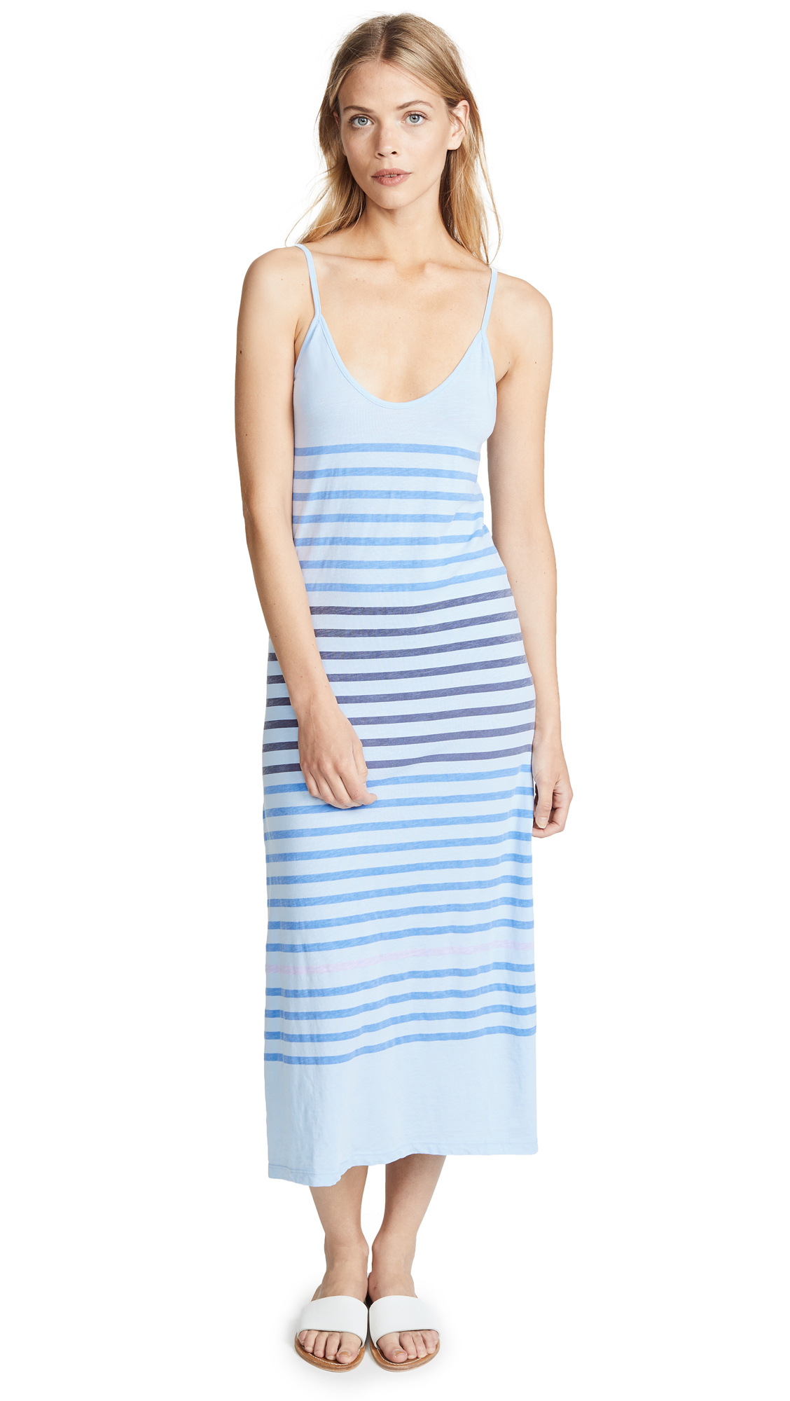 SUNDRY Stripes Spaghetti Strap Maxi Dress