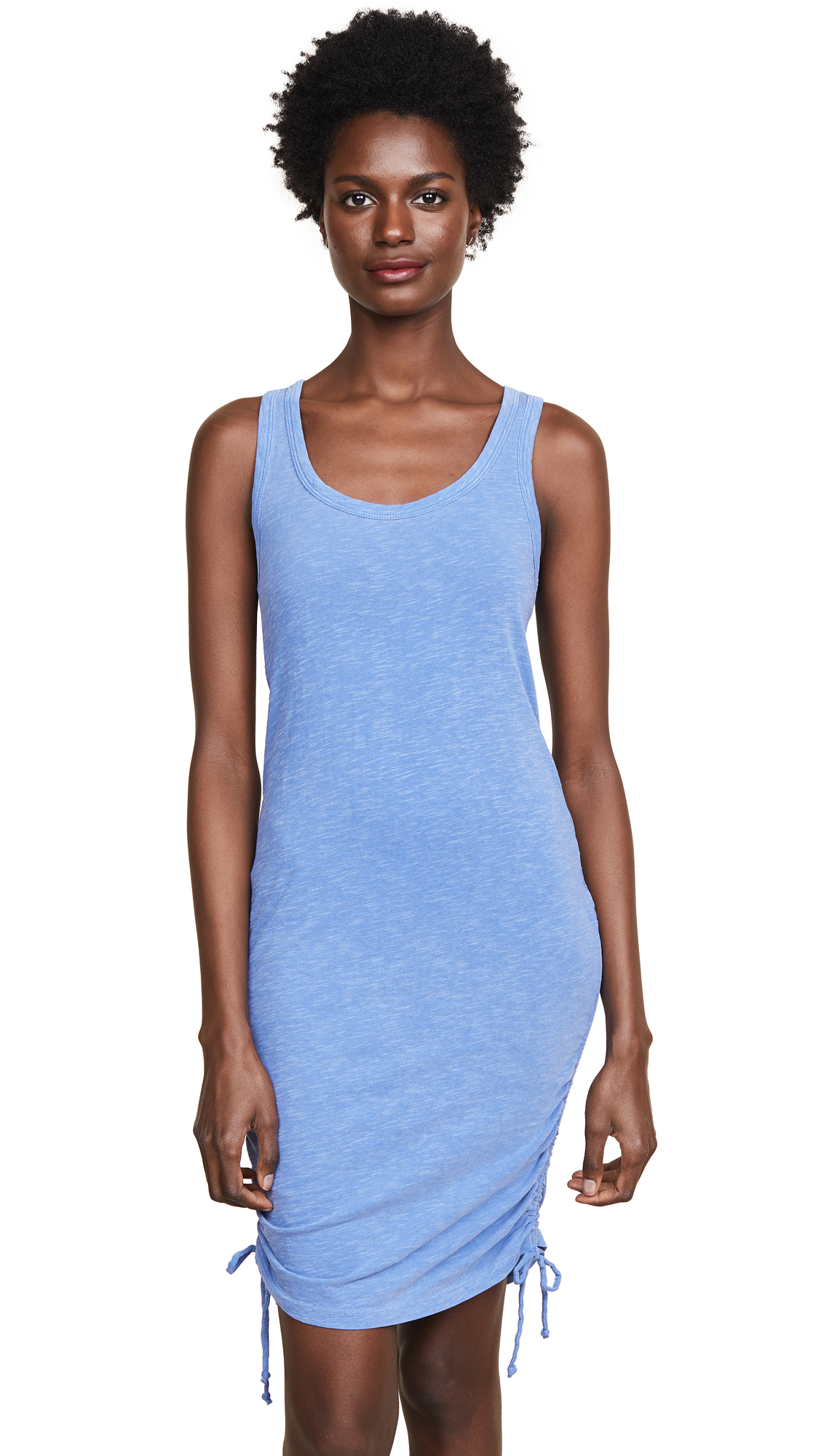 SUNDRY Racerback Side Shirred Dress