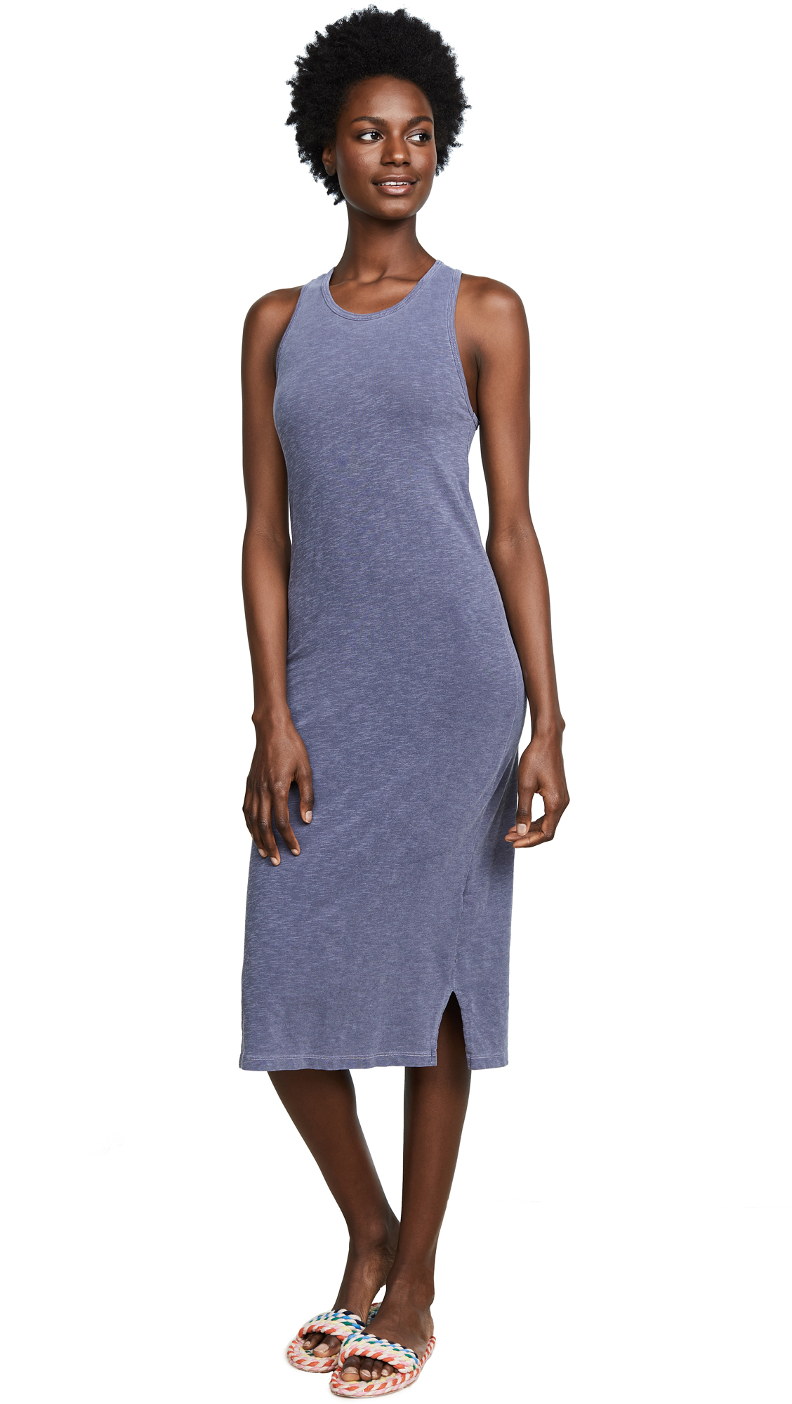 SUNDRY Cross Back Midi Dress