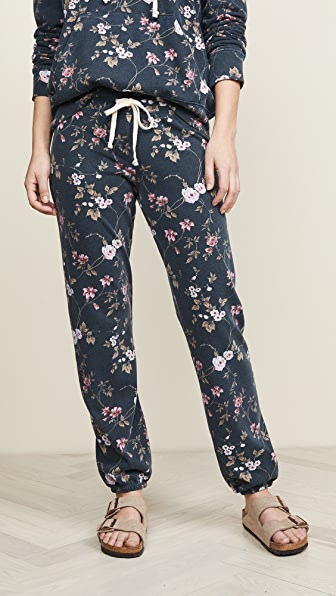 Sundry Pants FLORAL BASIC SWEATPANTS