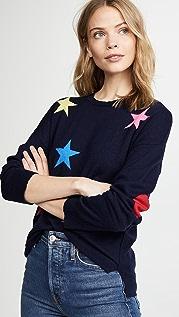 SUNDRY Stars & Heart Crew Neck Sweater