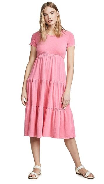 SUNDRY Peasant Midi Dress
