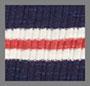 Navy/Red Stripe