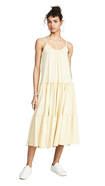 SUNDRY Tiered Midi Dress