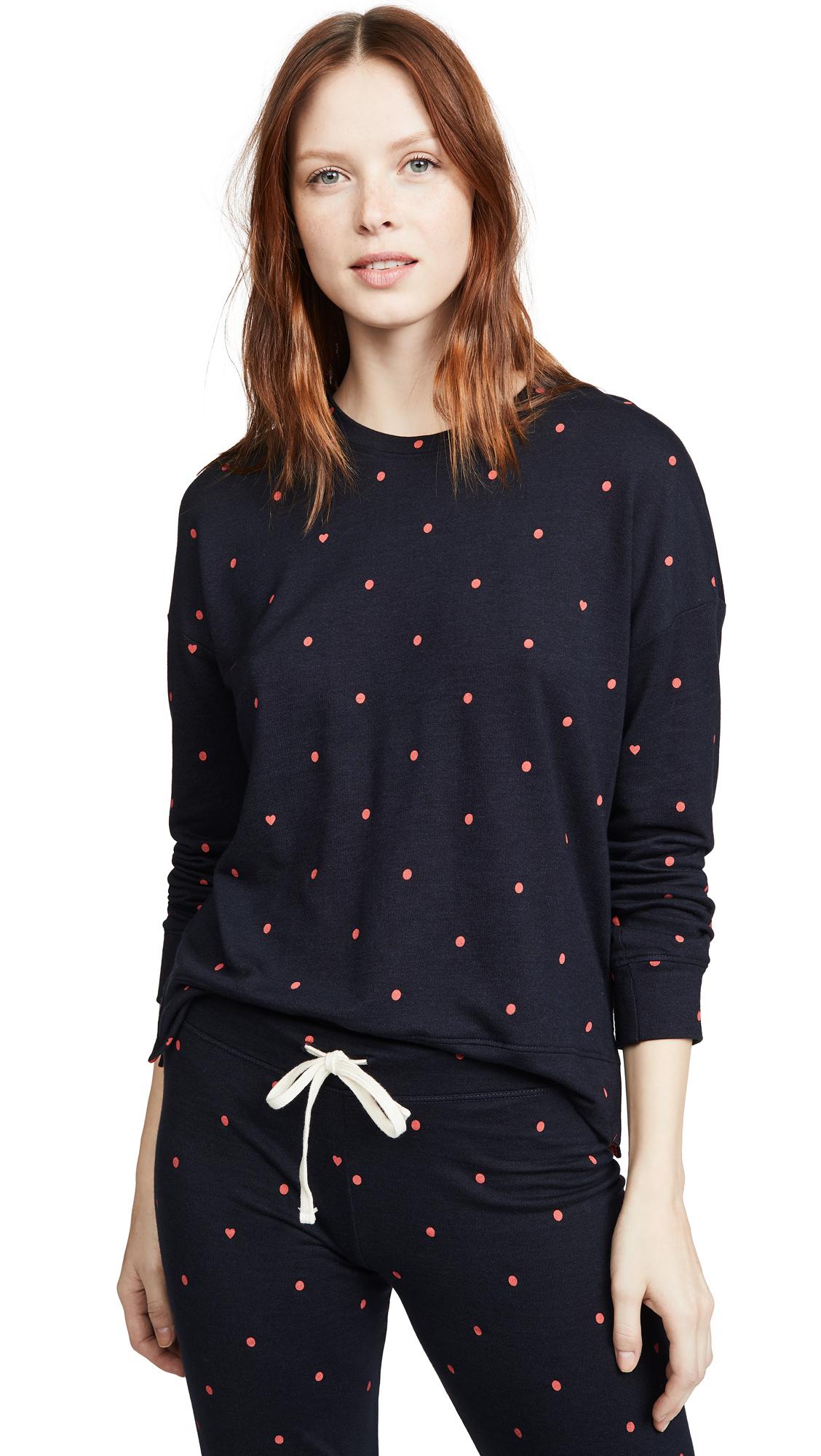 Buy SUNDRY online - photo of SUNDRY Polka Dot Hi Lo Crew Sweatshirt