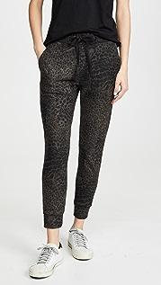SUNDRY Спортивные брюки с леопардовым принтом