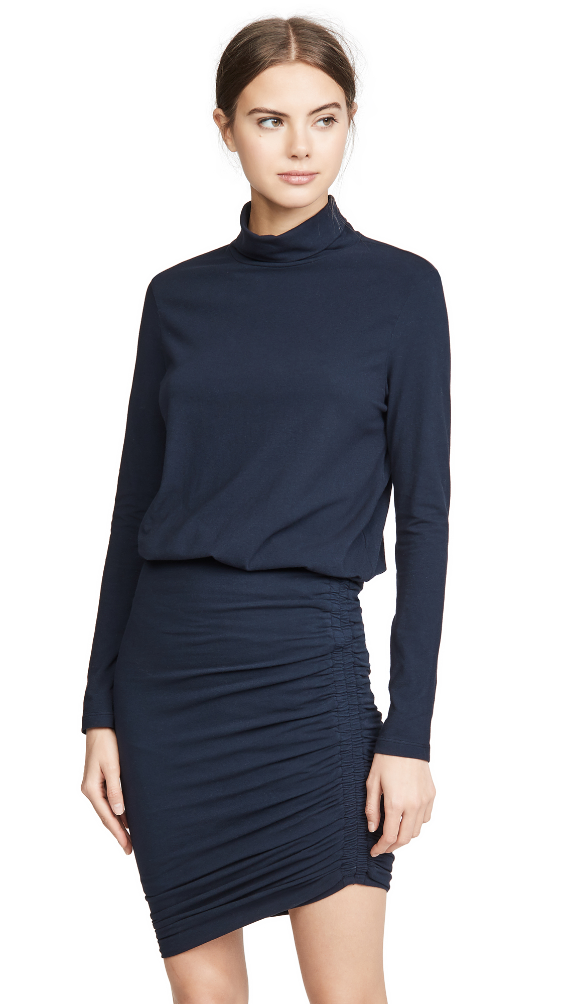 Buy SUNDRY online - photo of SUNDRY Turtleneck Blouson Dress