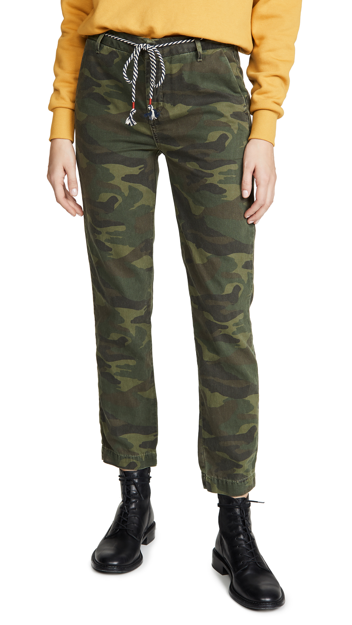 Sundry Pants CAMO CLEAN STRAIGHT TROUSERS