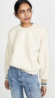 SUNDRY Oversized Sherpa Sweatshirt