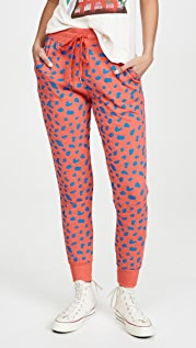 SUNDRY Abstract Dot Tapered Sweatpants