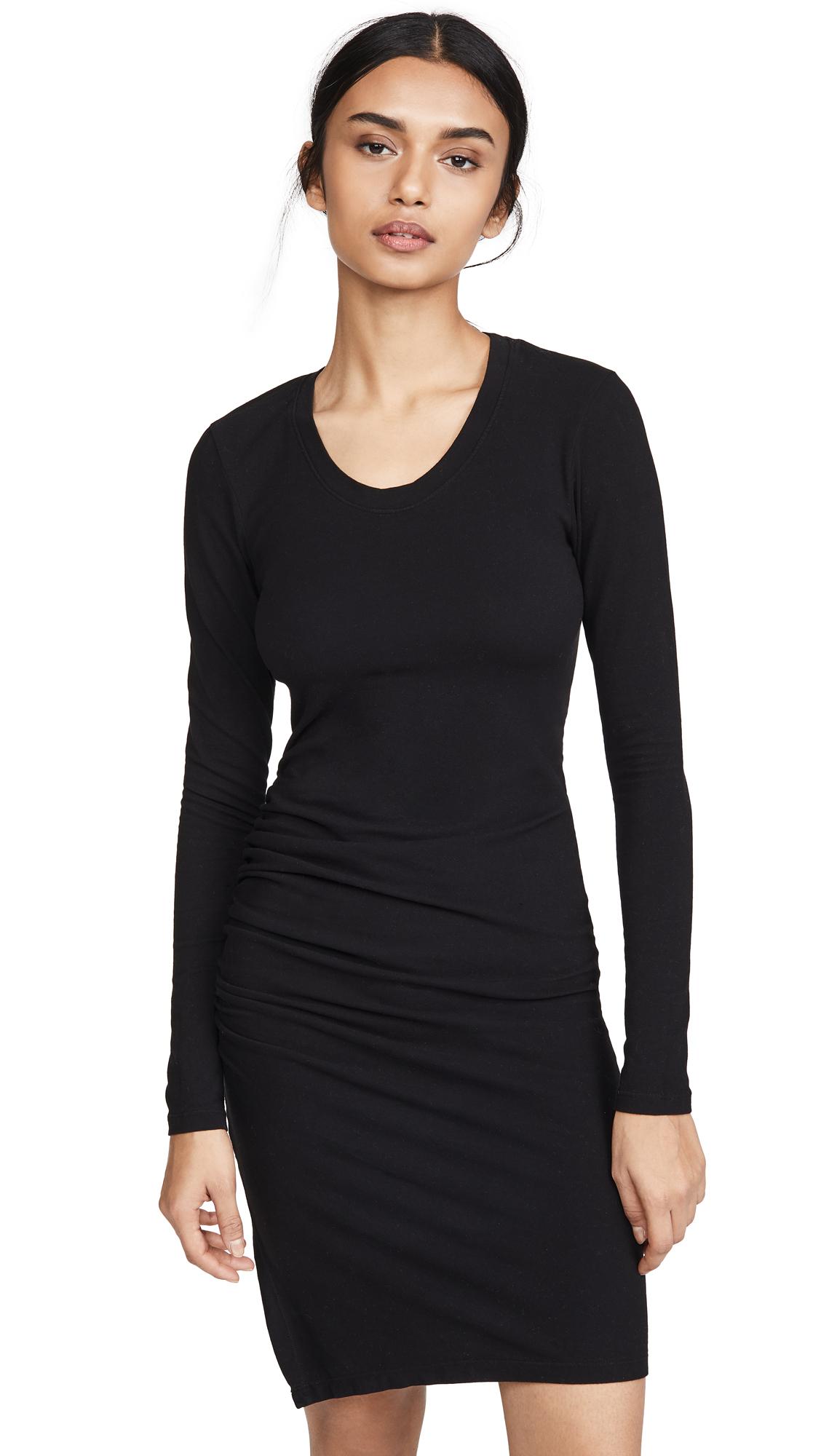 Buy SUNDRY online - photo of SUNDRY Long Sleeve Ruched Slit Dress