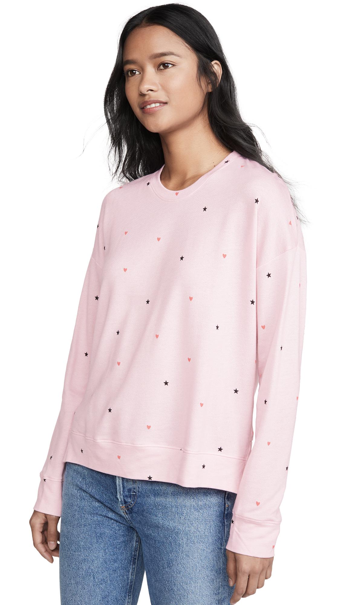 Buy SUNDRY online - photo of SUNDRY Stars & Hearts High Low Sweatshirt