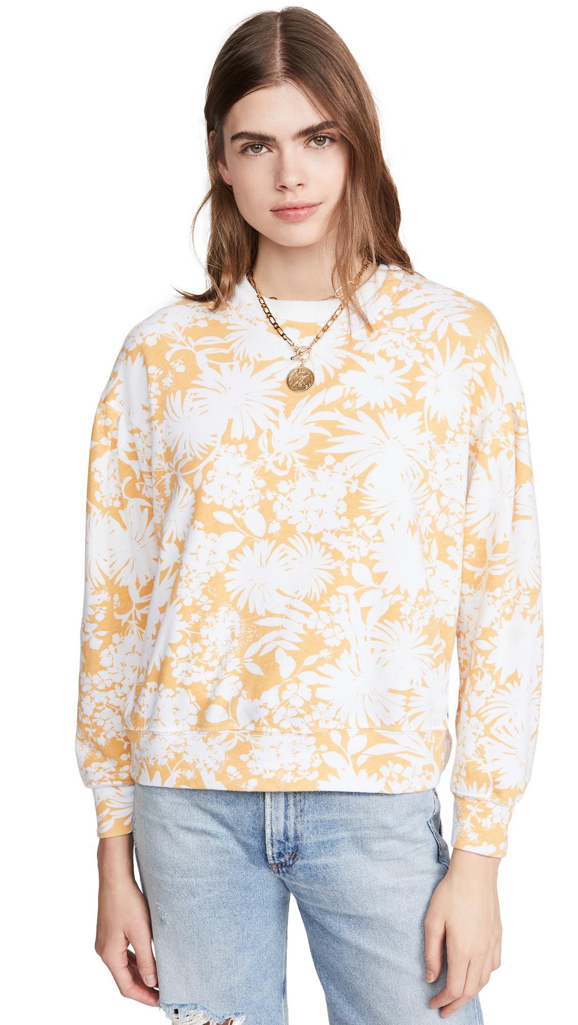 SUNDRY Floral Sweatshirt - 30% Off Sale