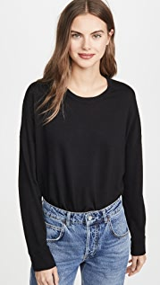 SUNDRY High Low Crew Sweatshirt