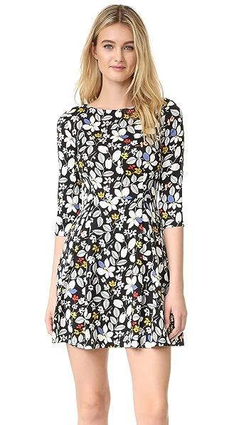 SUNO Fit & Flare Dress - Multicolor Floral