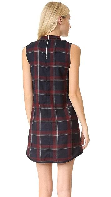 SUNO Plaid Ruffle Dress