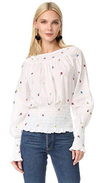 SUNO Smocked Blouse