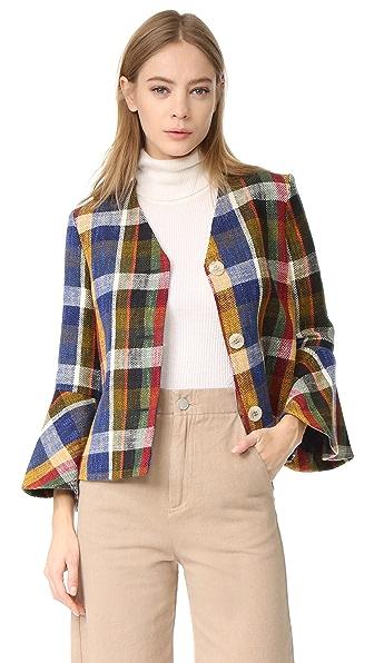 SUNO Ruffle Sleeve Jacket