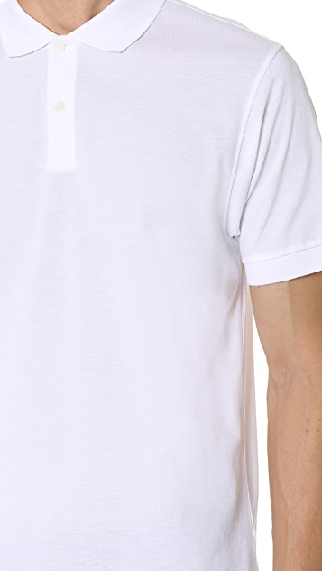 Sunspel Short Sleeve Pique Polo Shirt