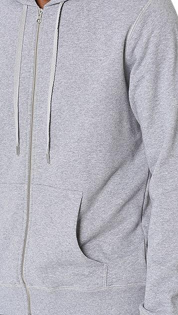 Sunspel Long Sleeve Zip Hoodie