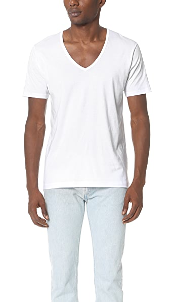 Sunspel Sea Island Cotton V Neck Tee