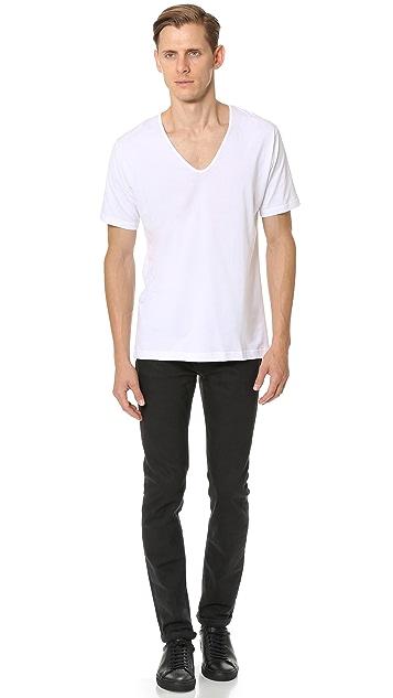 Sunspel Superfine Cotton V Neck Undershirt