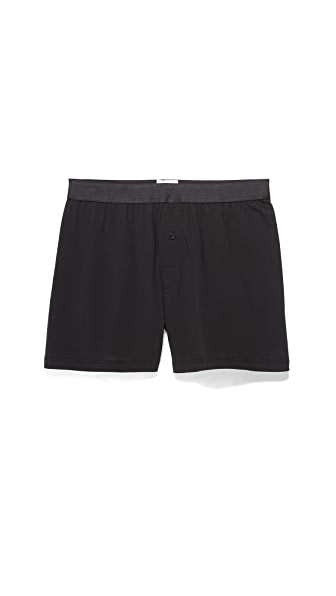Sunspel Superfine Cotton One Button Boxer Shorts