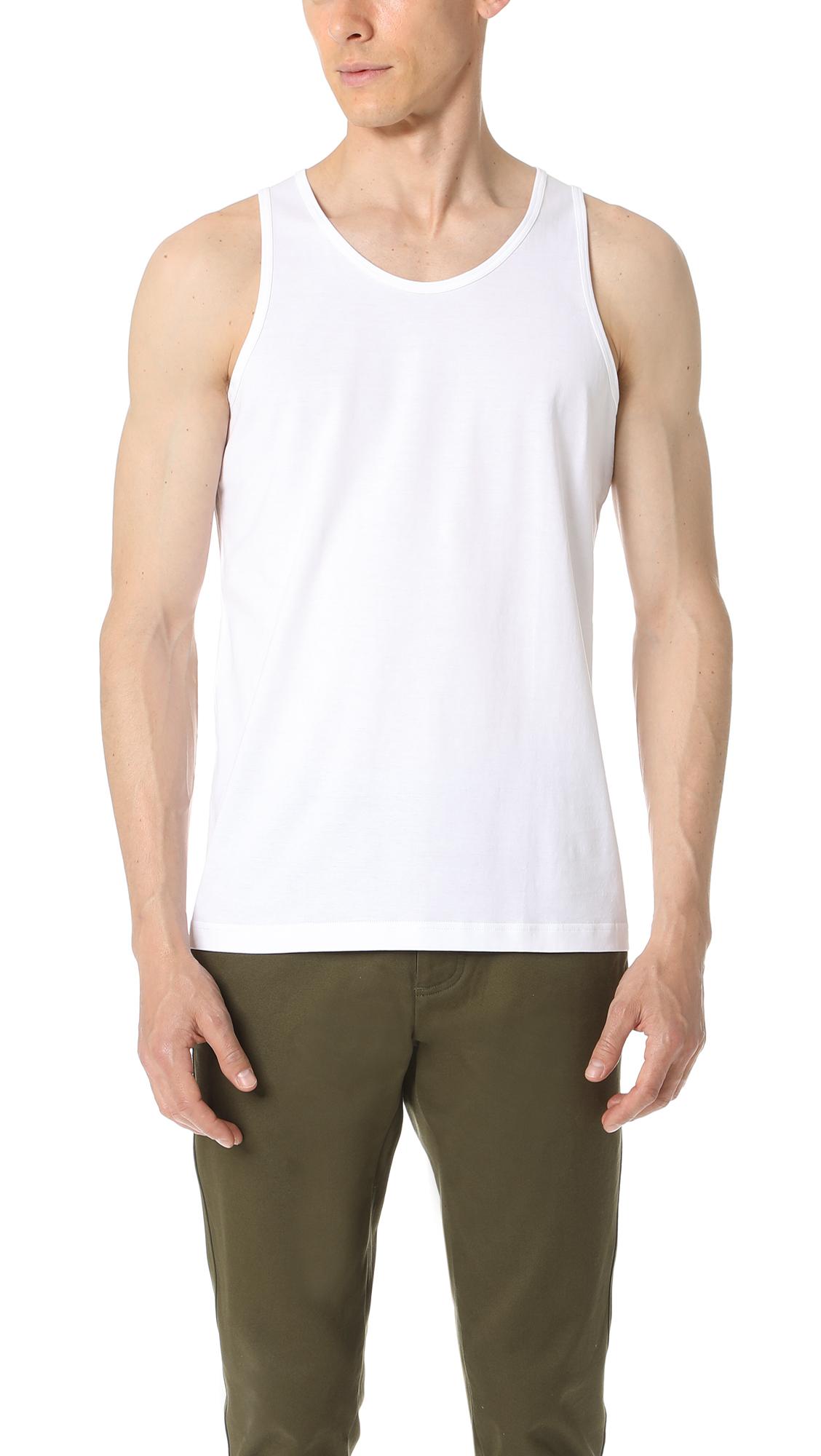 SUNSPEL Cotton Underwear Tank Top - White