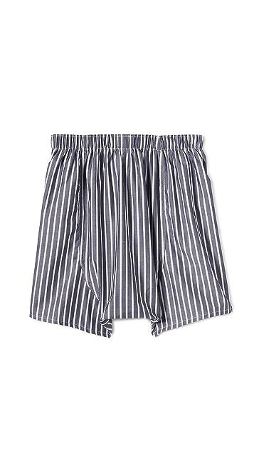 Sunspel Unbalanced Stripe Boxer Shorts