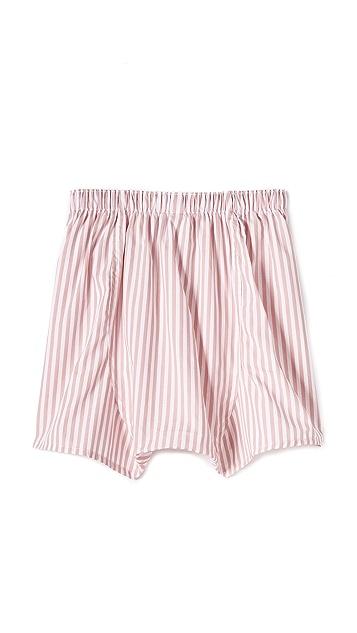 Sunspel Woven English Stripe Boxer Shorts