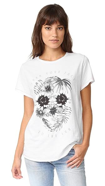 Surf Bazaar Floral Skull Boyfriend Tee