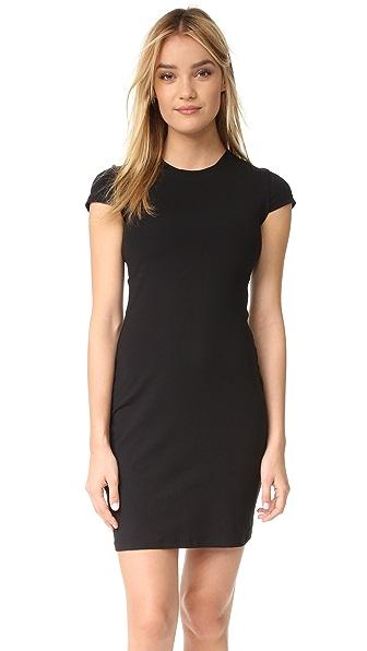 Susana Monaco Crew Dress In Black