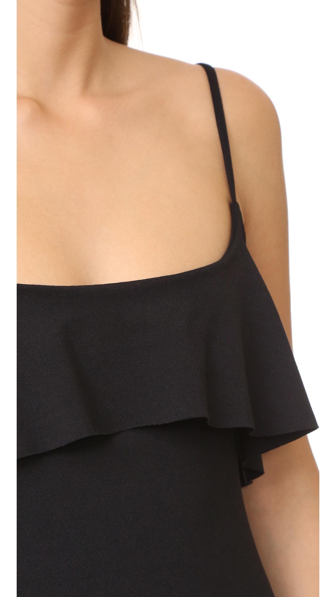 Платье на тонких бретельках с оборкой Susana Monaco  (SUSAN4017412867112)