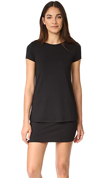 Susana Monaco Bri Layered Shift Dress - Black