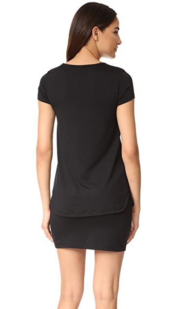 Susana Monaco Bri Layered Shift Dress