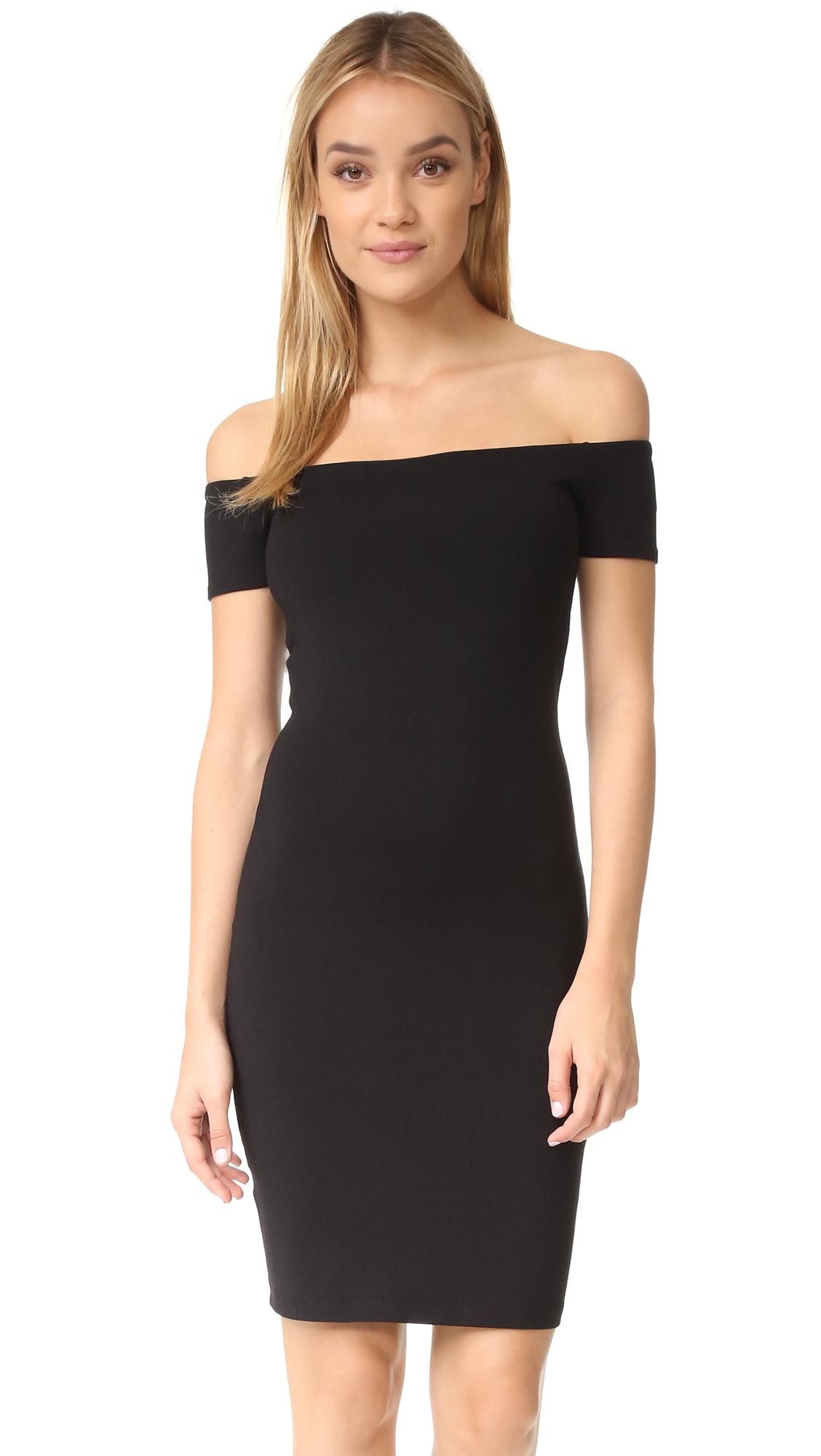 Susana Monaco Keira Off the Shoulder Dress - Black