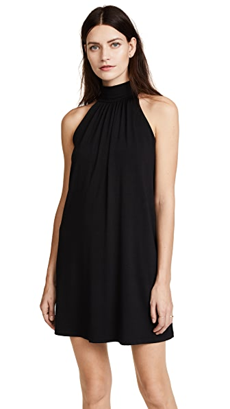 Susana Monaco Turtleneck Mini Dress In Black
