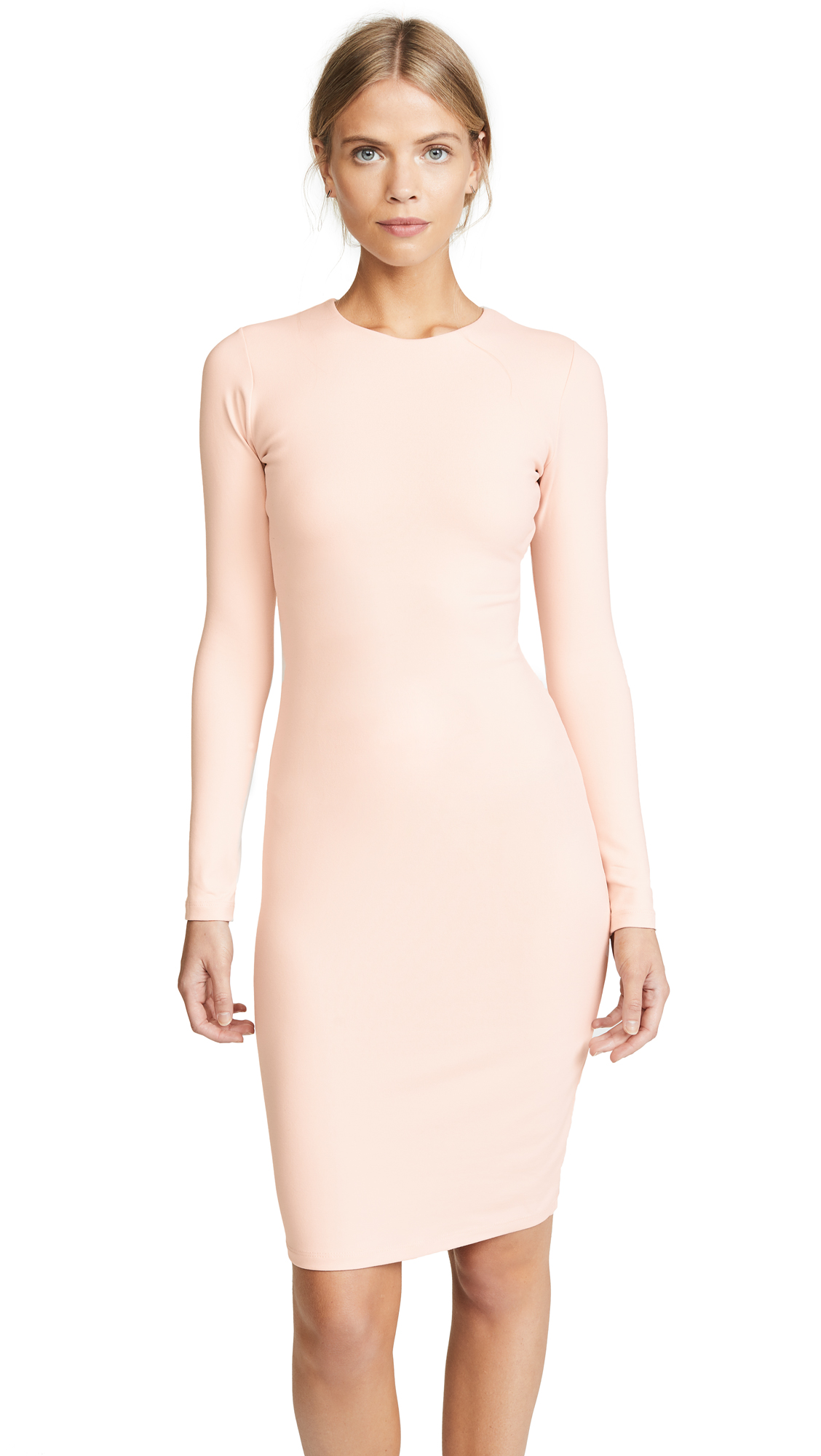 Susana Monaco Emma Long Sleeve Dress In Nude