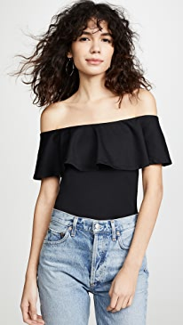 fcefa4496fb Susana Monaco. Ruffle Off Shoulder Top