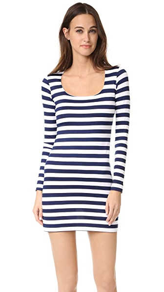 Susana Monaco Kiki Long Sleeve Stripe Dress