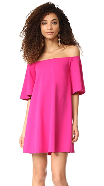 Susana Monaco Rachel Off the Shoulder Dress In Peony