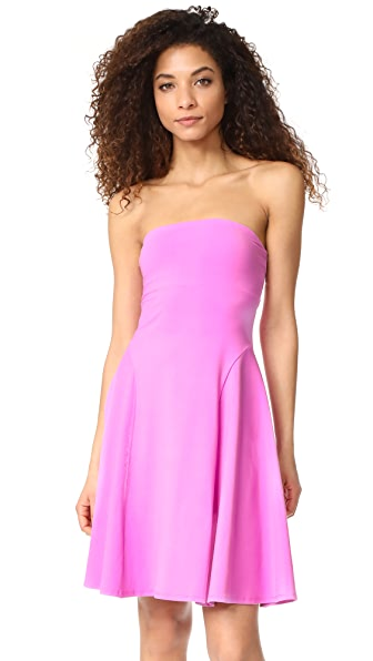 Susana Monaco Violet Strapless Dress In Bubble